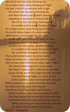 Grein Poetry Challenge 1
