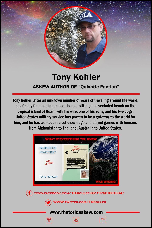 QXF Author Announcement Tony Kohler